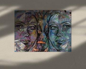 Mirrored Gesicht von ART Eva Maria
