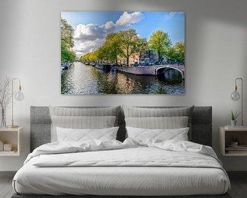 De Prinsengracht ter hoogte van de Reguliersgracht in Amsterdam. van Don Fonzarelli