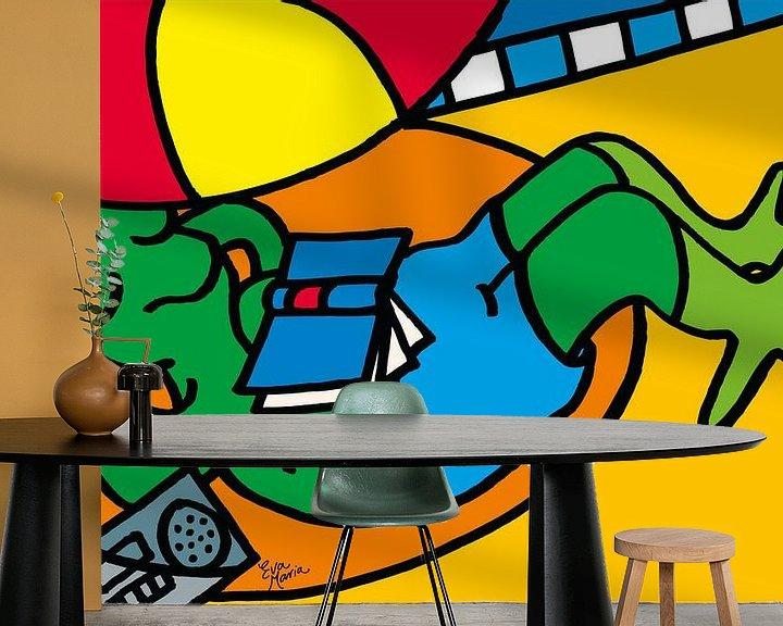 Sfeerimpressie behang: Kikker onder parasol van ART Eva Maria