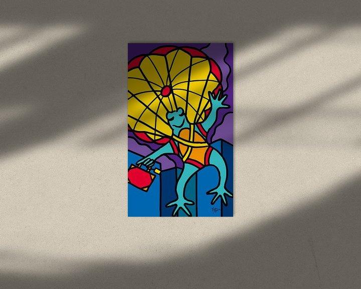 Sfeerimpressie: Kikker met parachute van ART Eva Maria