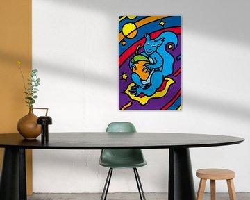 Eekhoorn op blad van ART Eva Maria