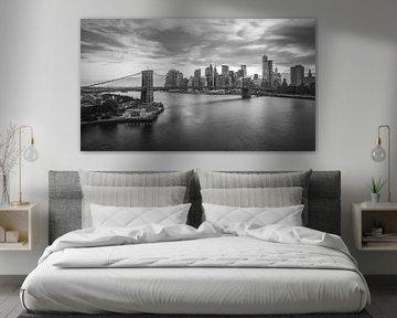 New York City Lights (B&W) von Dennis Wierenga