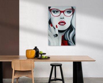 Liz popart portret van anja verbruggen