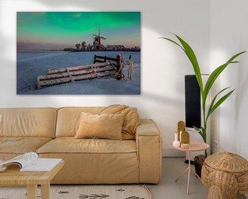 Polarlicht Traum, Niederlande von Peter Bolman