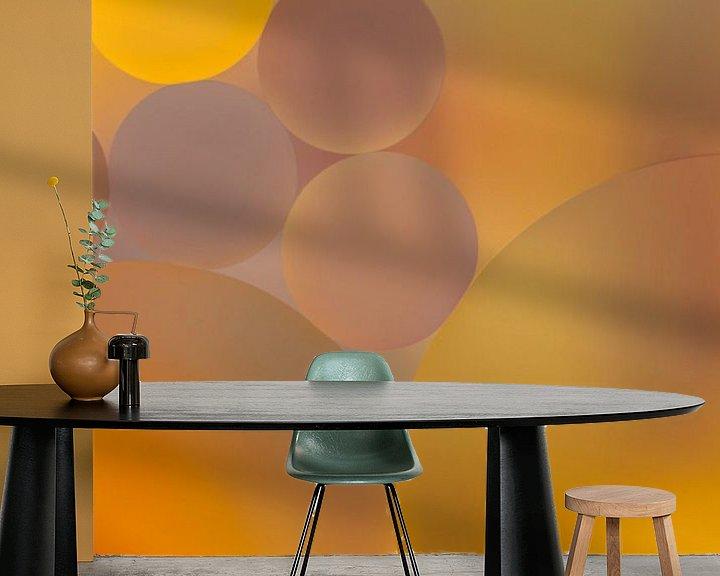 Sfeerimpressie behang: waterdruppels van Marcel Derweduwen