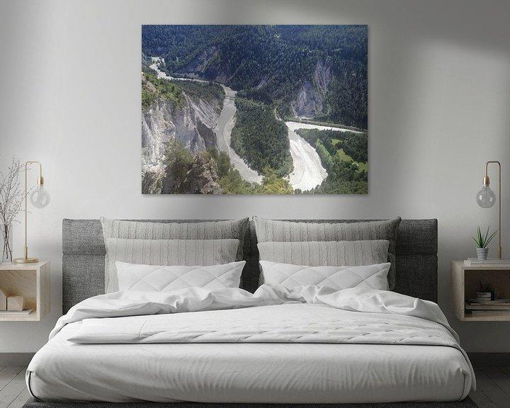 Sfeerimpressie: Slingerende Rijn door het Zwitsers landschap(Rijnkloof) van Patsy Van den Broeck