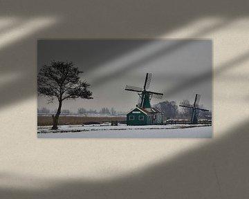 Winter op de sloten van Zaanstad von Gabrielle Douw