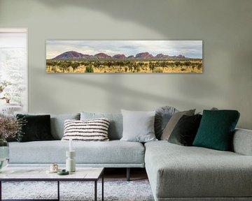 Panorama van Kata Tjuta, Olgas in Northern Territory Australië van Henk van den Brink
