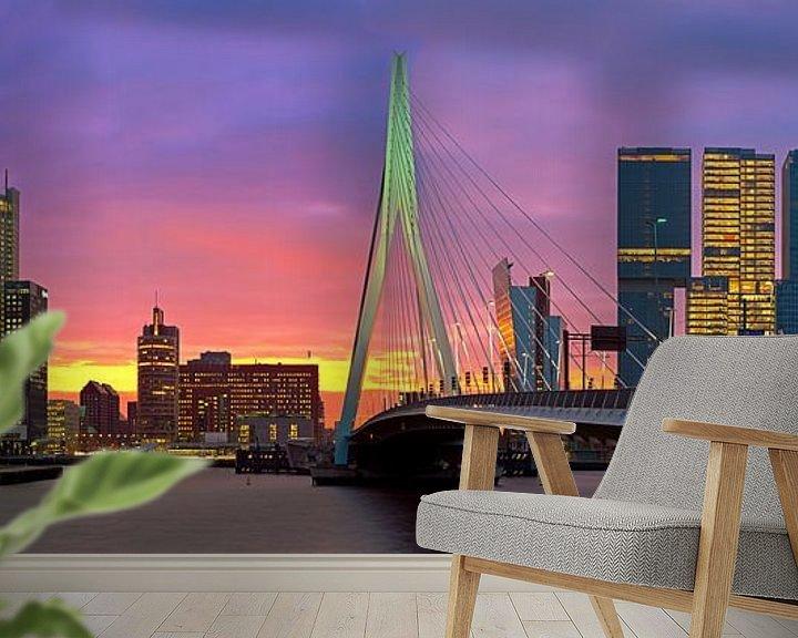 Sfeerimpressie behang: Rotterdam in vuur en vlam van Anton de Zeeuw