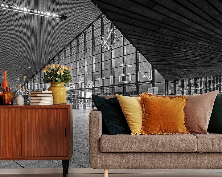 Sfeerimpressie behang: Het Centraal Station in Rotterdam van MS Fotografie | Marc van der Stelt