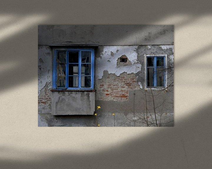Sfeerimpressie: Oud huis - Blue ramen van Christine Nöhmeier