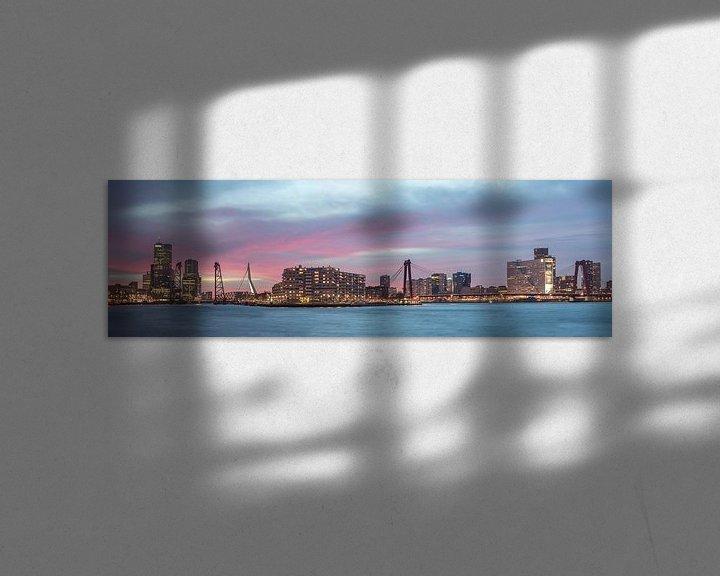 Sfeerimpressie: Panorama Kop van Zuid, Rotterdam  van Jan Koppelaar