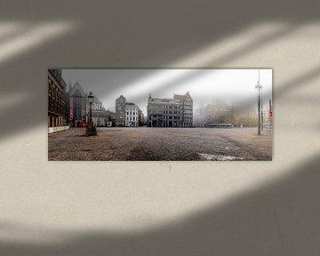 Ein verlassenes Dam von der Stadt Amsterdam von Wesley Flaman