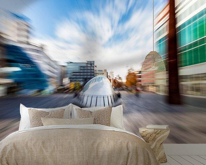 Sfeerimpressie behang: Artistieke impressie BLOB Eindhoven van Hans Kwaspen
