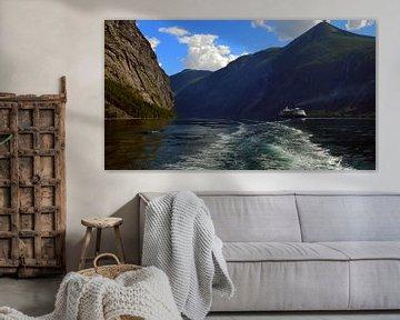Fjord in Noorwegen sur Willem van den Berge