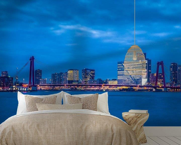 Beispiel fototapete: Skyline van Rotterdam bij avond von Rob IJsselstein