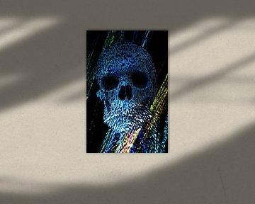 Exploding Stone Skull  von Nicky`s Prints