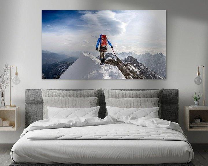Sfeerimpressie: Climbing Jubiläum ridge, Zugspitze. van Ruben Dario