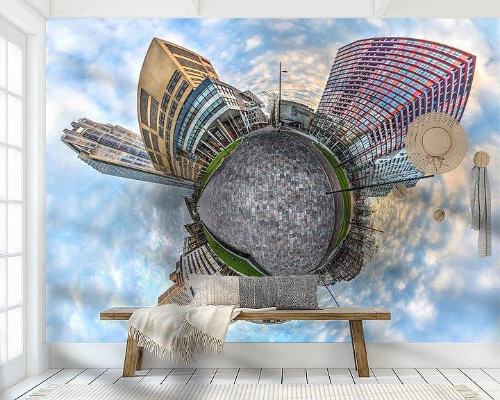 Sfeerimpressie behang: Bolpanorama Kruisplein Rotterdam van Frans Blok