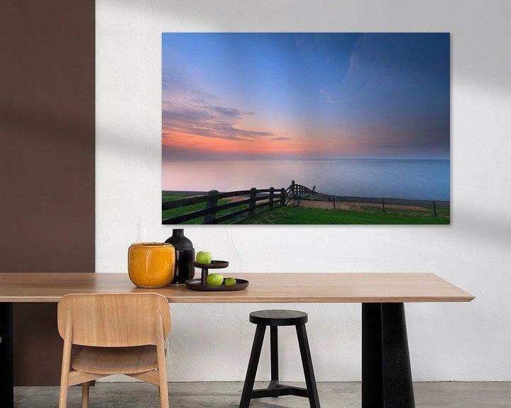 Sfeerimpressie: Laatste licht boven de Waddenzee van Niels Heinis