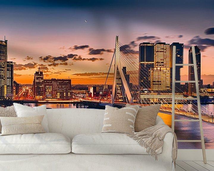 Sfeerimpressie behang: Rotterdam aan de Maas van Rob van der Teen