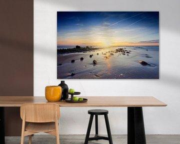 zonsondergang langs de Nederlandse kust van gaps photography