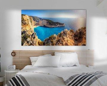 Shipwreck Beach Panorama, Griechenland sur Dennis van de Water