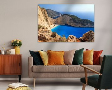 Zakynthos Shipwreck beach van Dennis van de Water