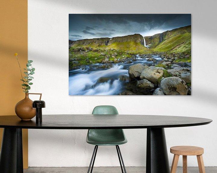 Sfeerimpressie: Waterval IJsland Kirkjufell van Jurgen Siero