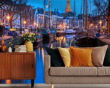Winter Welvaart Groningen vanaf de Vissersbrug van R Smallenbroek