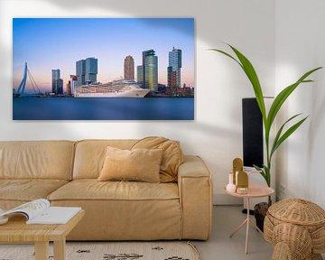 Rotterdam Skyline met Cruise von Albert Dros