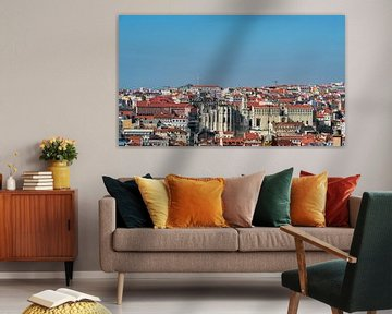 panorama of old  lisbon van Compuinfoto .