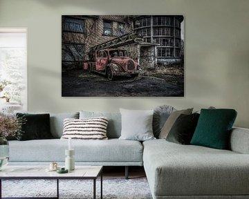 Old fire truck von Dutch Zappie