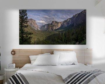Yosemite NP - vue sur la vallée sur Toon van den Einde