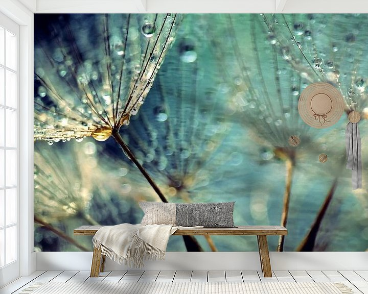 Sfeerimpressie behang: Paardenbloem van Julia Delgado