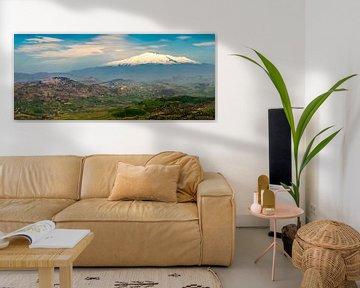 Sizilien, Blick vom Ätna im Frühjahr sur Teun Ruijters