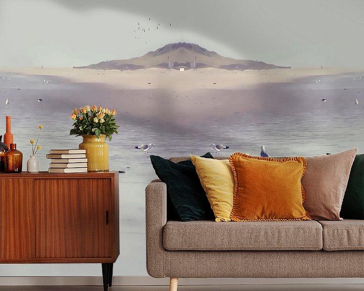 Sfeerimpressie behang: LOVE the OCEAN IVa van Pia Schneider