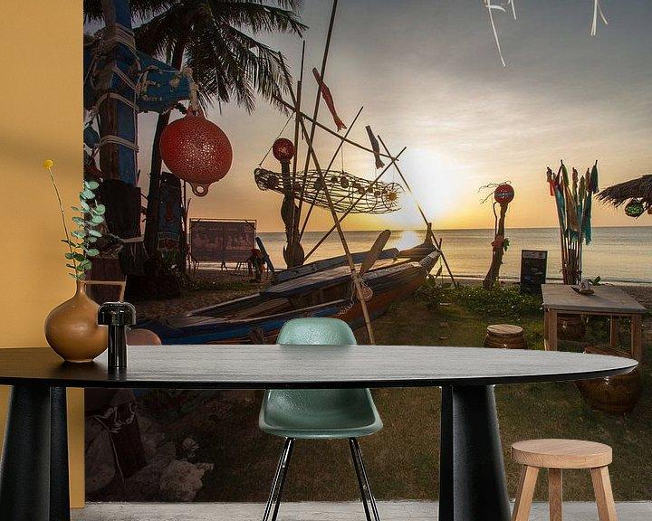 Beispiel fototapete: Sonnenuntergang auf Koh Lanta von Levent Weber