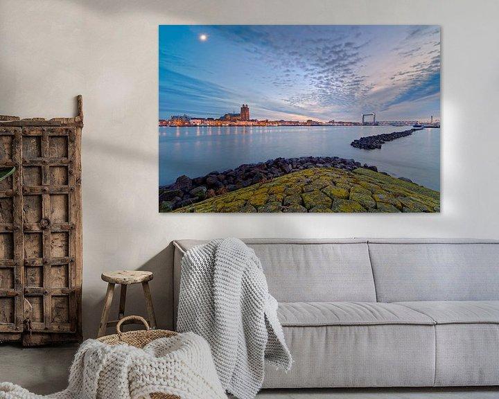 Sfeerimpressie: Mooie wolkenlucht boven Dordrecht van Anton de Zeeuw