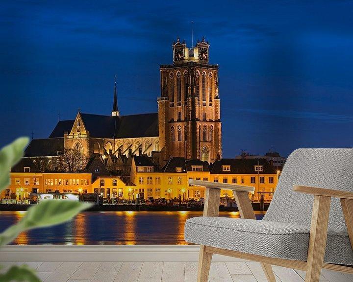 Beispiel fototapete: Nacht Foto Grote Kerk Dordrecht von Anton de Zeeuw