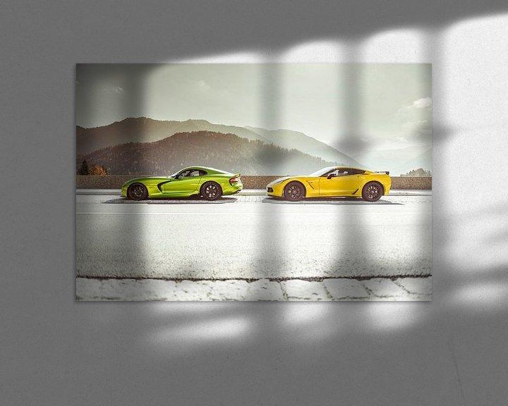 Sfeerimpressie: Chevrolet Corvette vs. Dodge Viper van Sytse Dijkstra
