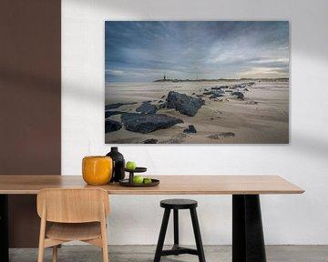 Storm op het strand 03 van Arjen Schippers
