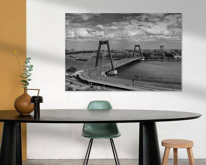 Sfeerimpressie: Willemsbrug vanaf het Witte Huis van Ilya Korzelius