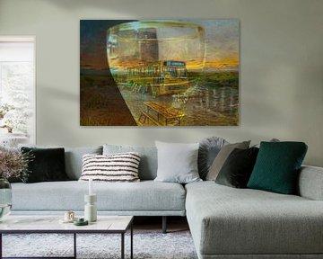 limited edition het einde van lijn 14  schier wadden van Groothuizen Foto Art