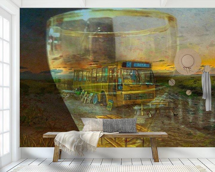 Sfeerimpressie behang: limited edition het einde van lijn 14  schier wadden van Groothuizen Foto Art