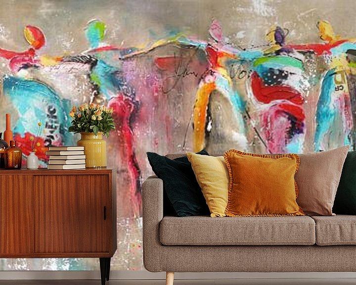Beispiel fototapete: Connected dance people von Atelier Paint-Ing