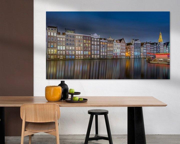 Sfeerimpressie: Damrak Amsterdam Nightshot van Martin Bredewold