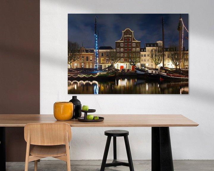 Sfeerimpressie: Pand Stockholm Dordrecht nachtfoto van Anton de Zeeuw