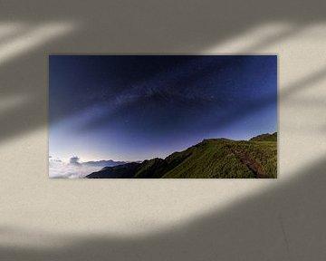Milchstraße von Hehuan in Taiwan aus gesehen von Jos Pannekoek