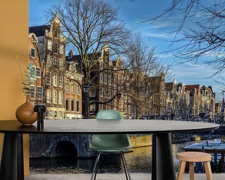 Sfeerimpressie behang: De mooie Brouwersgracht in Amsterdam. van Don Fonzarelli
